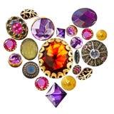 Coeur de pierre gemme Photos libres de droits