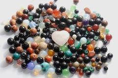 Coeur de pierres gemmes Images stock