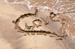 coeur de plage photographie stock libre de droits