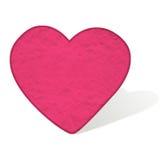 Coeur de Plansticine de l'amour Photographie stock libre de droits