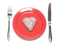 Coeur de plaque Photographie stock libre de droits