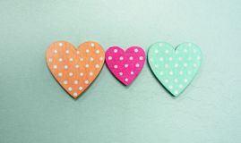 Coeur de point de polka trois Photo stock
