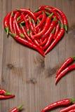 Coeur de poivre de piment Image libre de droits