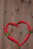Coeur de poivre de piment Photo libre de droits