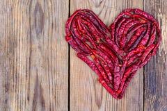 Coeur de poivre de piment sec Photographie stock