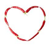 Coeur de poivrons de /poivron rouge Photo stock