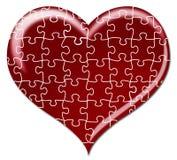 Coeur de puzzle Photos stock