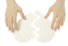 Coeur de puzzle Photo libre de droits