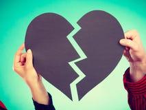 Coeur de réparation de deux personnes Photo libre de droits