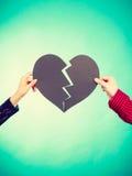 Coeur de réparation de deux personnes Photos stock