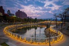 Coeur de rivière d'amour à Kaohsiung Image stock