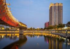 Coeur de rivière d'amour à Kaohsiung Photographie stock libre de droits