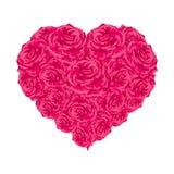Coeur de Rose au-dessus de blanc. Photos libres de droits