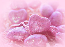 Coeur de rose de Valentine Photos stock