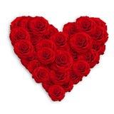 Coeur de roses Photos libres de droits
