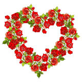 Coeur de roses rouges Image stock