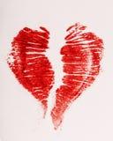 Coeur de rouge à lèvres d'impression Image libre de droits