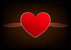 Coeur de rouge d'Absract Image stock