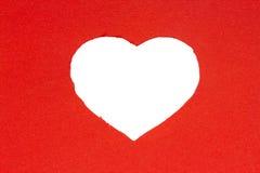 Coeur de rouge de fond Images stock