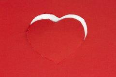 Coeur de rouge de fond Photographie stock