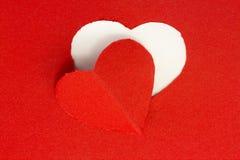 Coeur de rouge de fond Photographie stock libre de droits