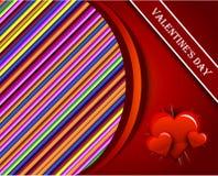 Coeur de rouge de vecteur Photographie stock