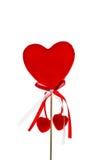 Coeur de rouge du jour de Valentine Image libre de droits