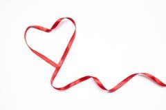 Coeur de ruban Photographie stock libre de droits