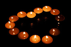 Coeur de s de Valentin 'fait de bougies Photo libre de droits