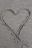 Coeur de sable Photos libres de droits