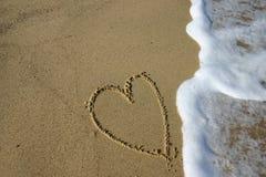 Coeur de sable Photographie stock