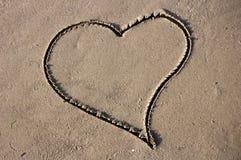 Coeur de sable Images libres de droits