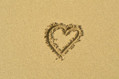 Coeur de sable Photo stock