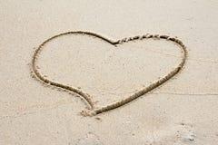 Coeur de sable Photo stock