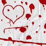 Coeur de sang Image libre de droits