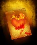 Coeur de sang Photographie stock libre de droits