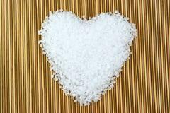 Coeur de sel de mer photos libres de droits