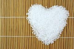 Coeur de sel de mer image stock