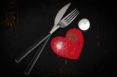 Coeur de sel et de poivre Photos libres de droits