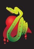 Coeur de serpent Photographie stock