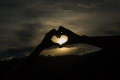 Coeur de silhouette Photo libre de droits