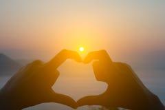 Coeur de silhouette Photo stock