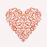 Coeur de silhouette de dentelle Photos stock