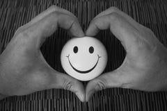 Coeur de sourire Photographie stock libre de droits