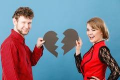 Coeur de sourire de fixation de couples Photo stock