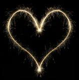 Coeur de sparkler de Noël Images libres de droits