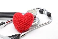 Coeur de stéthoscope Photographie stock libre de droits
