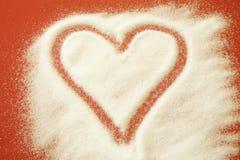 Coeur de sucre Photographie stock