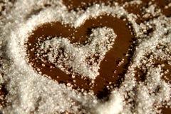 Coeur de sucre Image libre de droits