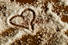 Coeur de sucre Image stock